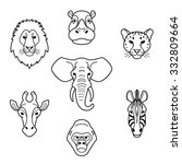 African Animals In Flat Style...