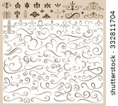 set of calligraphic design... | Shutterstock .eps vector #332811704