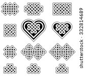 a collection of celtic knots ... | Shutterstock .eps vector #332814689