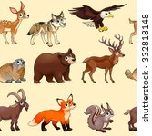 cartoon mountain animals... | Shutterstock .eps vector #332818148