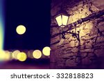 city lights and lamppost in the ... | Shutterstock . vector #332818823