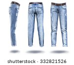 woman jeans in white background  | Shutterstock . vector #332821526