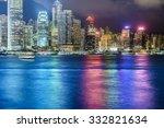 hongkong night view | Shutterstock . vector #332821634