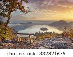 Autumn Lake Bled. Lake Bled...