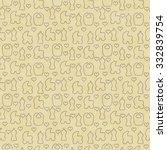 yellow baby carriage  bib ...   Shutterstock . vector #332839754