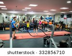fit people working out in... | Shutterstock . vector #332856710
