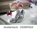 elegant bride's shoes with... | Shutterstock . vector #332859263
