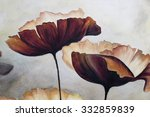 Painted Picture Of Poppies