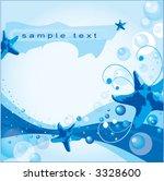 abstract depths of ocean. | Shutterstock .eps vector #3328600