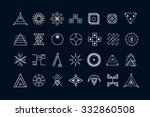 set of geometric shapes. trendy ... | Shutterstock .eps vector #332860508