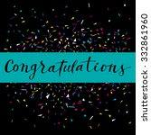 congratulations  modern... | Shutterstock .eps vector #332861960