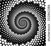 design spiral dots backdrop.... | Shutterstock .eps vector #332862386