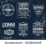set of emblem  labels denim... | Shutterstock .eps vector #332863469
