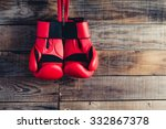 pair of boxing gloves hanging... | Shutterstock . vector #332867378