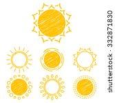 collection sun icons  design...   Shutterstock . vector #332871830