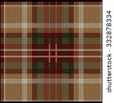 Knitted Plaid Tartan Pattern