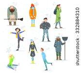 People In Winter Activities...