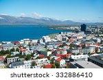 Reykjavik city, view from the top of Hallgrimskirkja church, Iceland