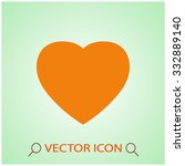 heart icon. one of set web icons