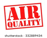 air quality red rubber stamp... | Shutterstock . vector #332889434