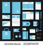 corporate identity template set....   Shutterstock .eps vector #332894459