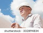 a construction worker man in... | Shutterstock . vector #332894834