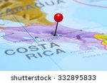 san jose pinned on a map of... | Shutterstock . vector #332895833