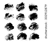 abstract black textured strokes ...   Shutterstock .eps vector #332912879