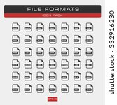 file formats   linear gray icon ...