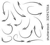 vector hand drawn arrows | Shutterstock .eps vector #332917016