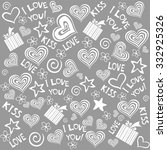 valentine seamless  hearts... | Shutterstock .eps vector #332925326