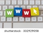 the word www in colorful wooden ...   Shutterstock . vector #332929058