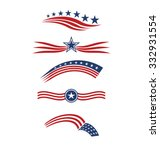 Usa Star Flag Logo Stripes...