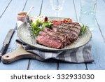 Point Steak On Plate