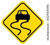 road flooding sign | Shutterstock .eps vector #332934590