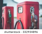 Vintage Red Gasoline Pumps...