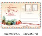 vintage christmas and happy new ... | Shutterstock .eps vector #332935073