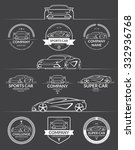 set of super car silhouettes... | Shutterstock .eps vector #332936768