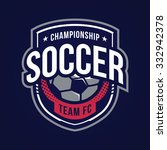 soccer logos  american logo... | Shutterstock .eps vector #332942378
