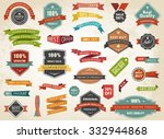 Vintage vector set of  labels banners tags stickers badges design elements./Vintage Vector Set of  Label Banner Tag Sticker Badge/Vintage Vector Set of  Label Banner Tag Sticker Badge | Shutterstock vector #332944868