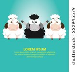 black sheep with blue background | Shutterstock .eps vector #332945579