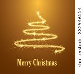 abstract merry christmas tree... | Shutterstock .eps vector #332946554