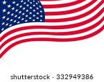 us flag isolated on white... | Shutterstock . vector #332949386