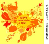 happy thanksgiving day card....   Shutterstock .eps vector #332965376