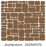 background stone wall  vector... | Shutterstock .eps vector #332969570