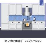 style design kitchen interior... | Shutterstock .eps vector #332974310