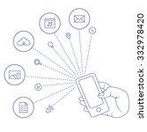 demonstration screen mobile... | Shutterstock .eps vector #332978420