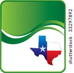 lonestar state on green wave... | Shutterstock .eps vector #33297892