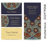 invitation  cards with ethnic... | Shutterstock .eps vector #332979008
