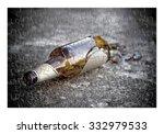 puzzle of a broken bottle of... | Shutterstock . vector #332979533